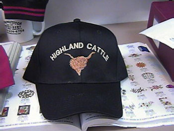 Highland Cattle Black Hat