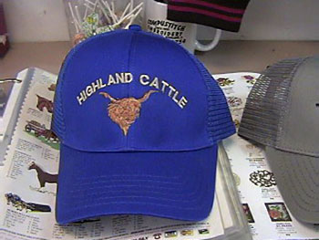 Highland Cattle Blue Hat