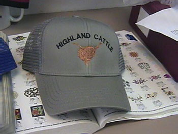 Highland Cattle Gray Hat