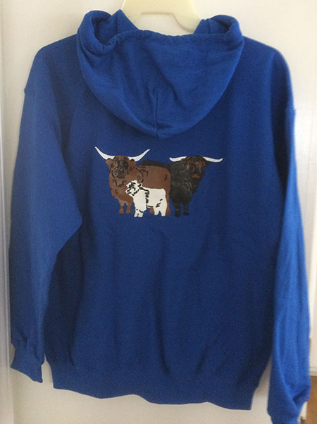HHCA Zippered Hoodie Blue - Back