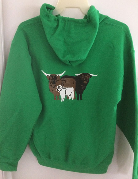 HHCA Zippered Hoodie Green - Back