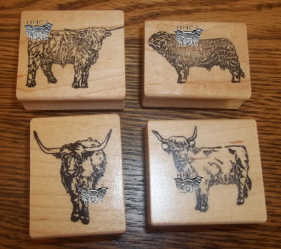 Highland Cattle Stamps